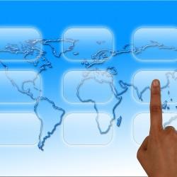 dedo en el mundo digital